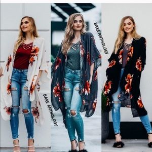 Tops - Boho Floral Kimono Wrap